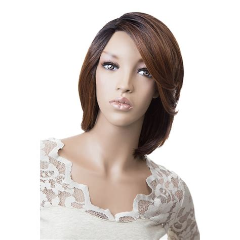 layered bob with lace look closure freetress equal silk base synthetic lace front wig silk