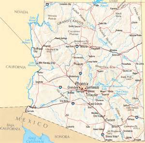 show me a map of arizona arizona map map of arizona