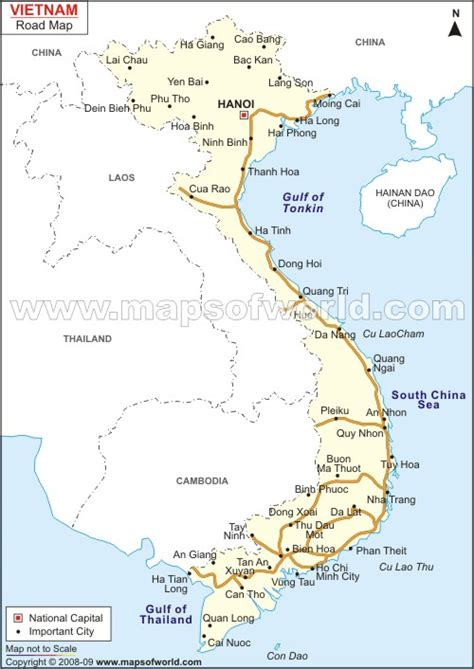 printable vietnam road map free map of viet nam coloring pages