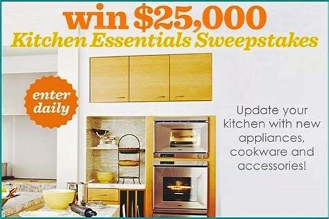 win 25k kitchen essentials with bhg sweepstakesbible