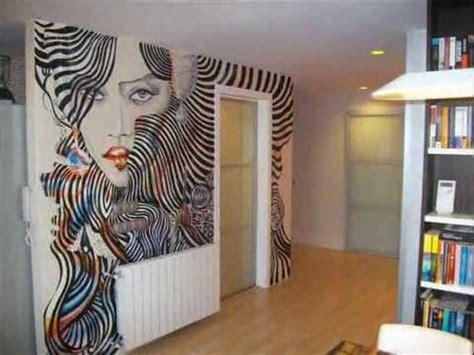 mural pintado en salon silueta  mujer youtube
