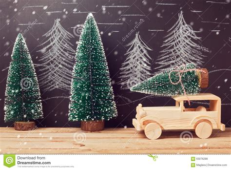 christmas celebration concept with christmas tree on toy