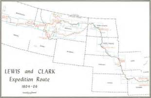 Lewis And Clark Route Map by The Lewis And Clark Trail A Proposal For Developmen