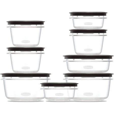 Walmart Kitchen Storage Containers rubbermaid premier food storage container 16 piece set