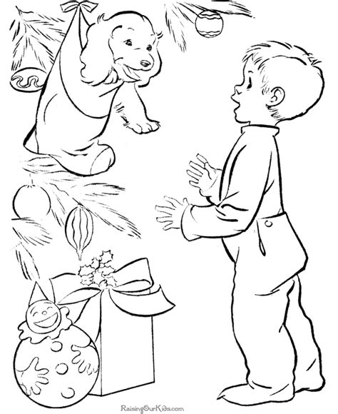 christmas presents free coloring pages