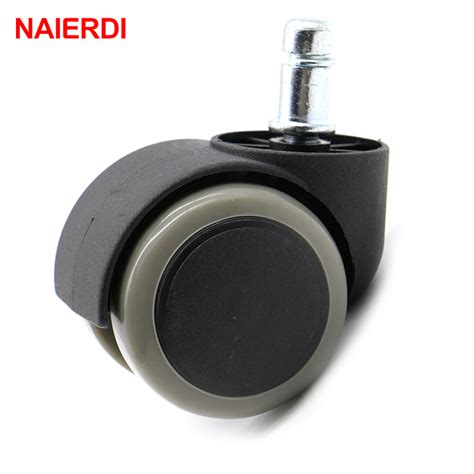 5pcs Naierdi Gray 50kg Universal Mute Wheel 2 Quot Replacement Swivel Office Chair With Wheels