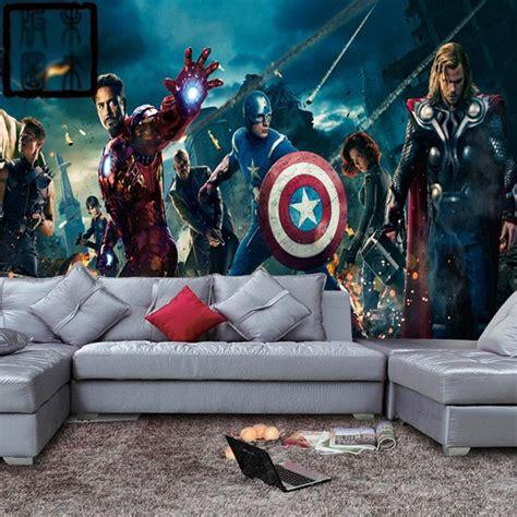bedroom marvel kids bedroom extraordinary super hero wall marvel avengers heroes photo wallpaper 3d wall mural kids