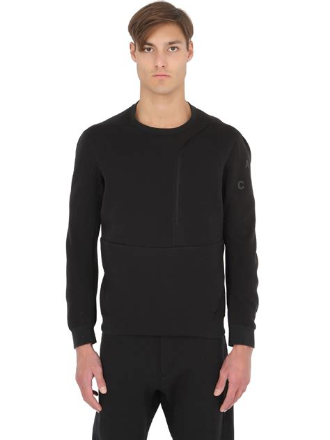 Sweatshirt Black lyst nike acg tech fleece crewneck sweatshirt in black for