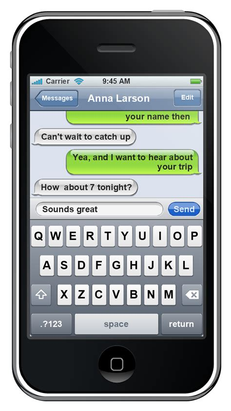 iphone os ios graphic user interface gui sms application