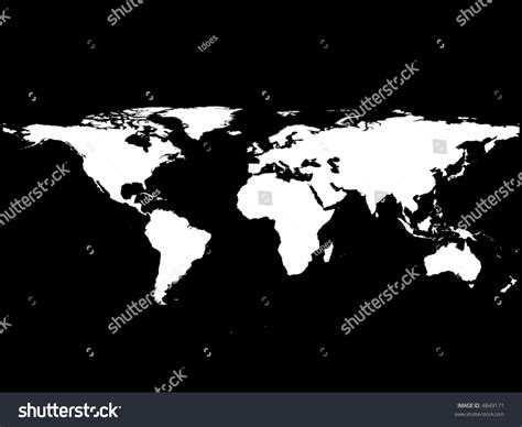 world map black and white vector black white vector illustration world map stock vector