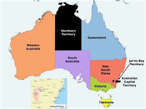 map of australia with territories why is jervis bay on the coast of new south wales part of