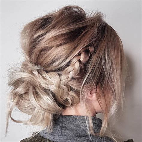prom hairstyles for medium length hair with braids 10 updos for medium length hair from top salon stylists