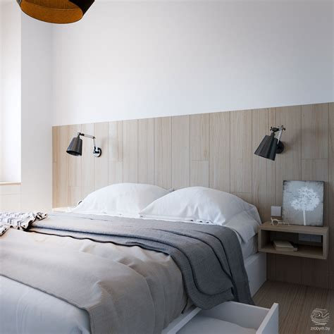 headboard fixed to wall grey and yellow open plan small apartment tour