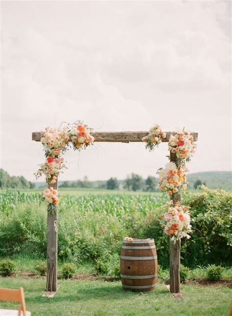 Wedding Arch Wooden by 36 Wood Wedding Arches Arbors And Altars Weddingomania