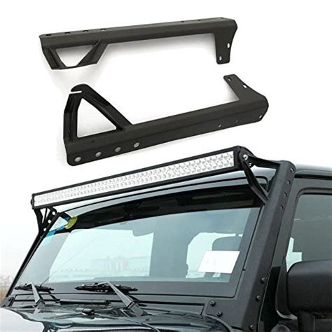 jeep jk light bar brackets windshield mounting brackets 52 inch led light bar