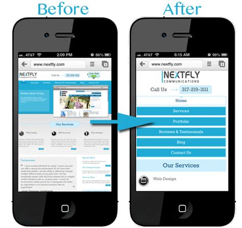 mobile optimization responsive design services nextfly