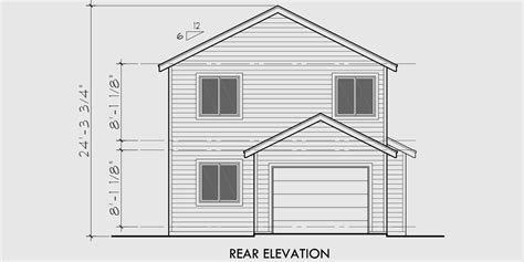 drawing of a house with garage narrow lot house plans house plans with rear garage 9984