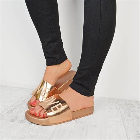 flat mules shoes womens flat slider slippers slip on mules