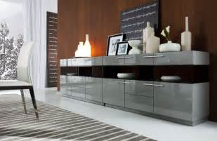 Grey Buffet Table Daytona Modern Grey Gloss Buffet