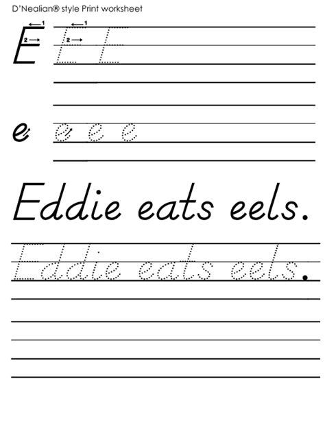 handwritingworksheets com print d nealian handwriting practice worksheets worksheets