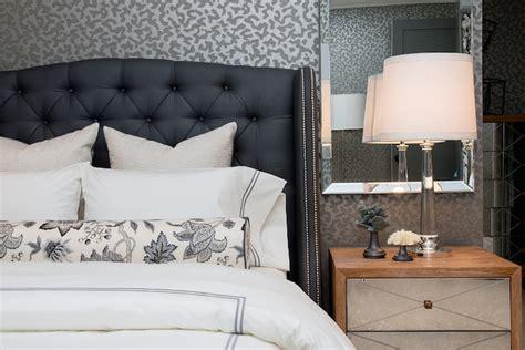 blue tufted bed dark blue tufted headboard contemporary bedroom
