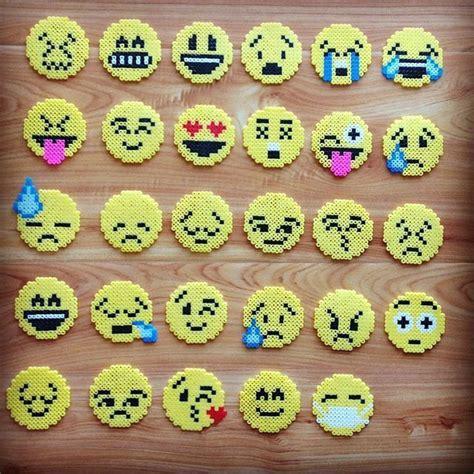 Perler beads emojis.   Perler Bead Patterns   Pinterest   Emoticon, Tween and Magnets