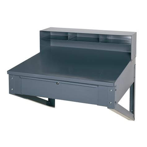 Shop Top Drawer by Edsal 650 Steel Wall Mounted Shop Desk With 5 Top And
