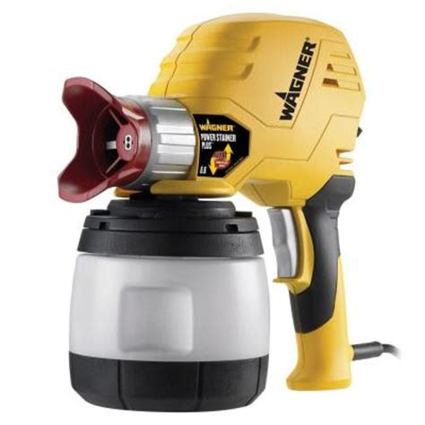 home depot wagner airless paint sprayer wagner power stainer plus 6 6 gph paint sprayer with ez
