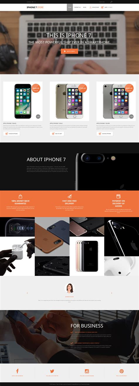 Iphone Mobile Phones Responsive Shopify Theme Shopify Mobile Template