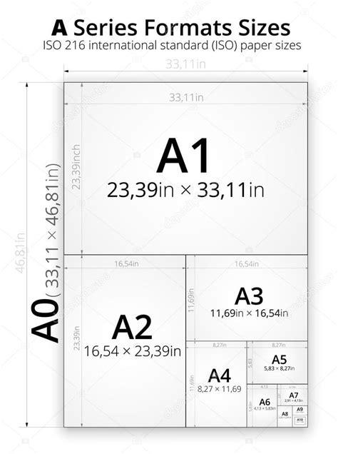 dimensione del formato   fogli  carta vettoriali