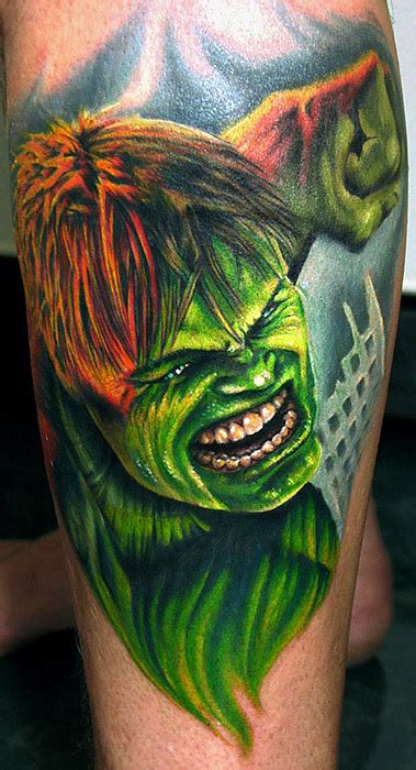 hulk tattoos the by stefano alcantara tattoos