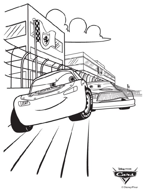Disney Cars Race Coloring Page Crayola