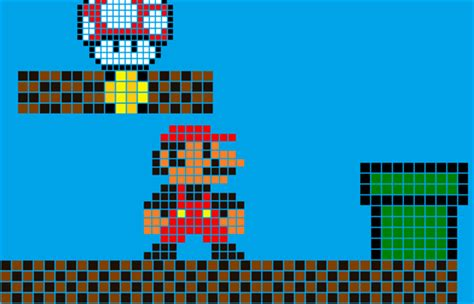 pixelated mario characters pixel art mario by darilhowell on deviantart