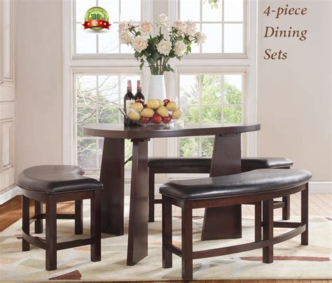 triangle dining set with benches modern dining set furniture triangle shaped semicircle bench couch table brown