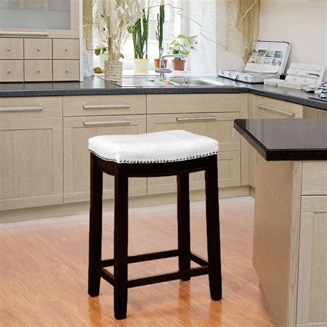Linon Bar Stools 24 by Linon Home Decor Claridge 24 In White Cushioned Bar Stool