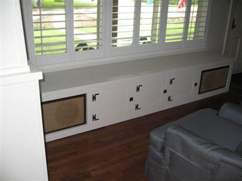 built in stereo cabinet craftsman built ins 5 window seat stereo cabinet 5