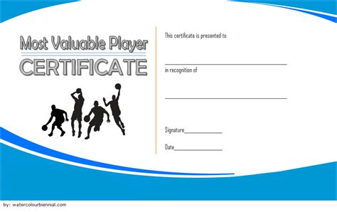 basketball mvp certificate template 10 basketball mvp certificate editable templates