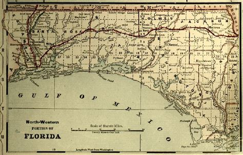 map of the panhandle of florida map of panhandle and west map of the florida panhandle 1890s