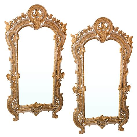 gold and silver mirror pair of mirrors with gold and silver leaf finish on
