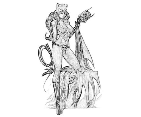catwoman pin up coloring pages coloring pages