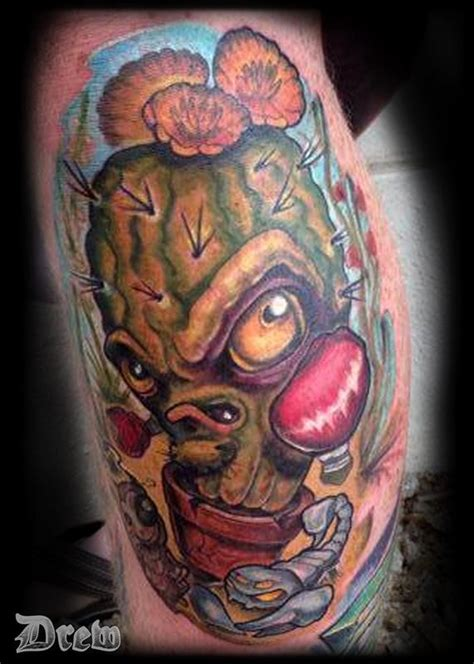new school tattoo artists in arizona barrel cactus by drew siciliano tattoonow