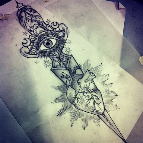 heart and dagger tattoo designs 35 knife and dagger designs