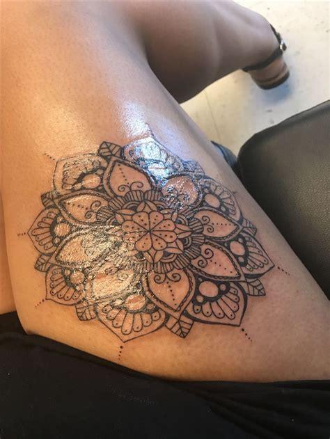 mandala thigh tattoo designs ideas  meaning tattoos