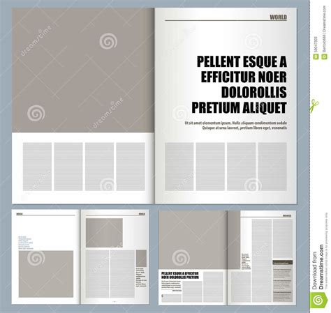 magazine layout design template modern magazine design template pages stock vector