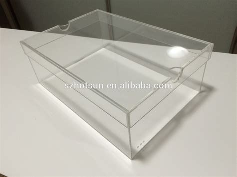 Acrilix Box Can Be Assembled custom made clear acrylic shoe box buy acrylic shoe box clear shoe box acrylic box product on