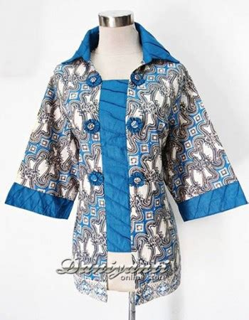 Harga Blouse On Inez model baju kerja batik indigo daniyanti