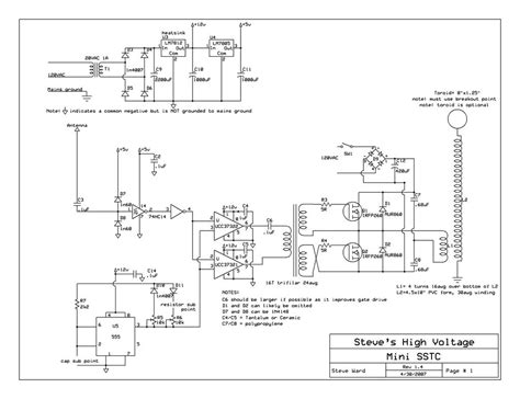 Tesla Coil Schematic Tesla Coil Circuit Page 2 Power Supply Circuits Next Gr