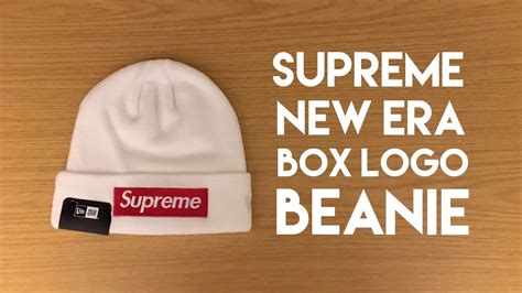 new era supreme supreme beanies white