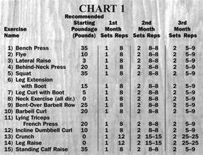 weider workout chart images