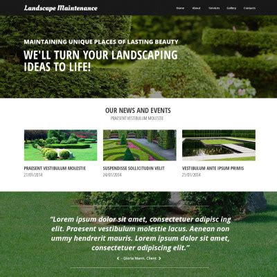 20 best landscape design website templates